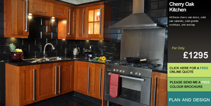 Kitchen Units In Cherry Oak