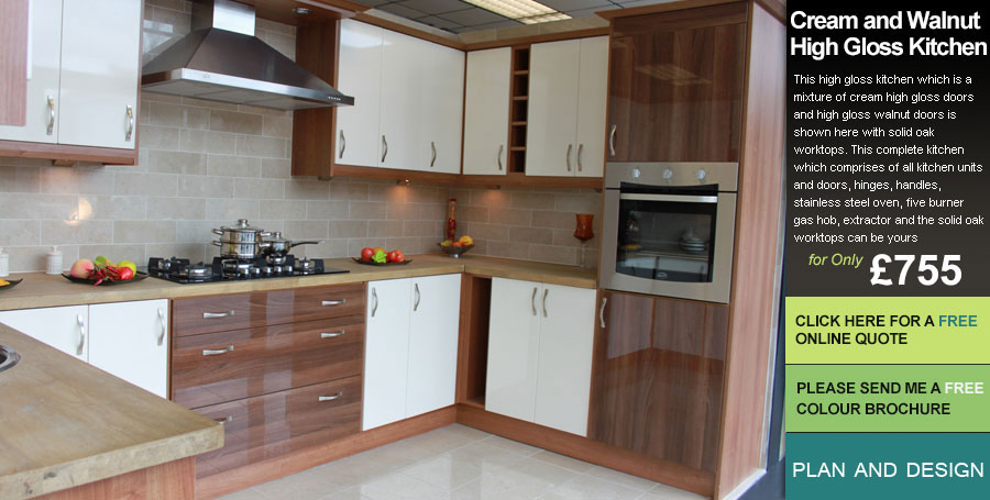 Cream and Walnut KITCHEN