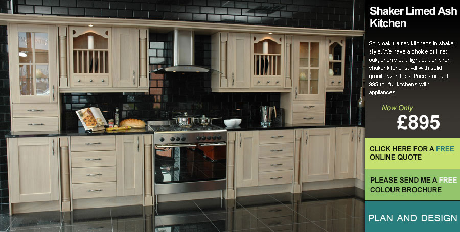 Shaker Limed Style Kitchen For Sale